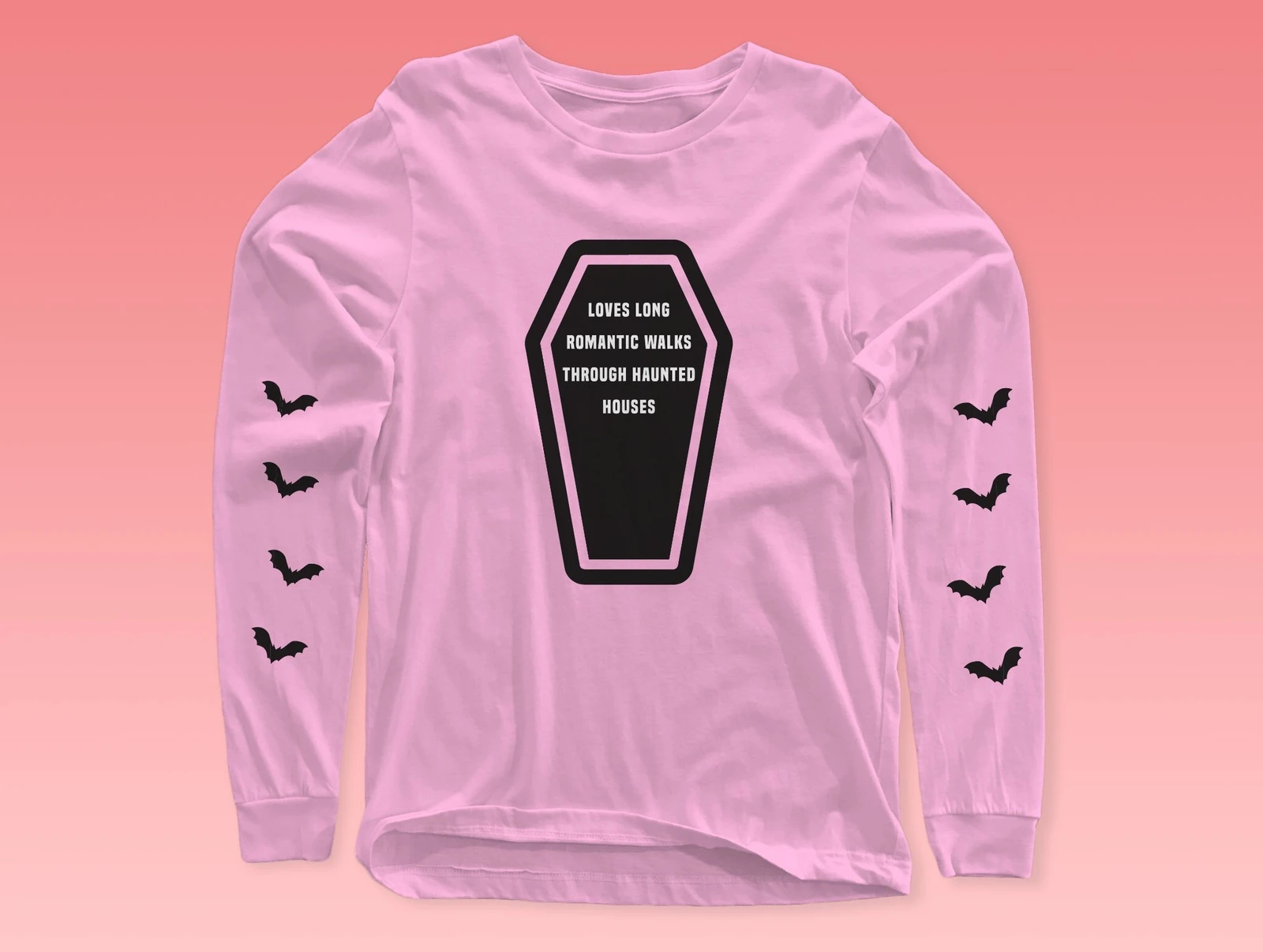 Haunted House Babe Long Sleeve Tee from underrated graphic tee site, Not Your Average Babe.