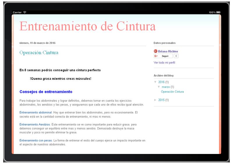 Скриншот Ejercicios para la Cintura