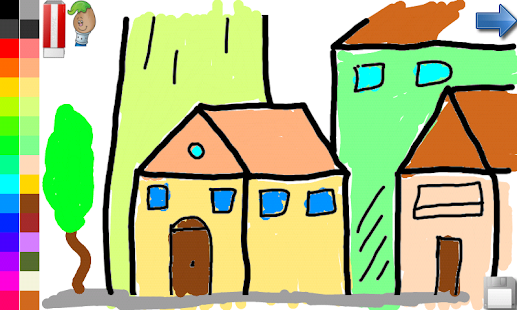 Coloring Book: House & Castle- screenshot thumbnail