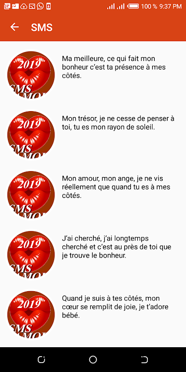 Sms Damour Et Drague 2019 Android Apps Appagg