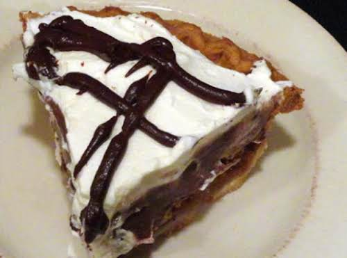 """Chocolate Pecan Pie With Chocolate Pudding """"Pecan pie is always good in..."""