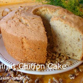 Walnut Chiffon Cake.