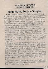 Photo: Glas Istre 7.6.2007 V Memorijal M.Peteršić