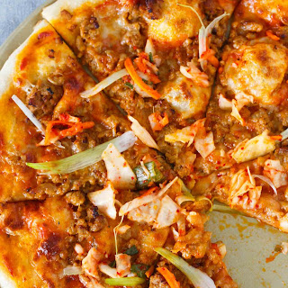 Spicy Korean Pork Pizza.