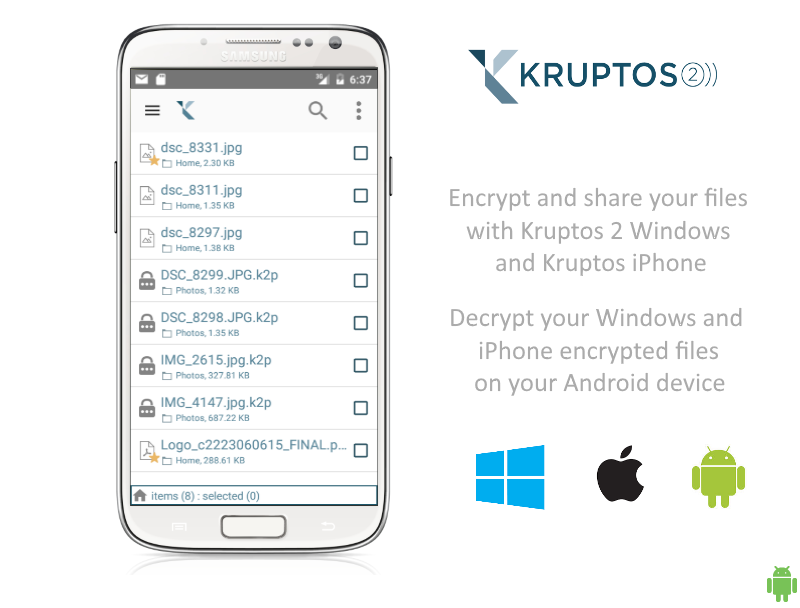 Encryption by Kruptos 2- screenshot