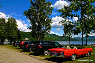 Photo: Parking lot getting full at Crystal Lake State Park by Wesley Morris