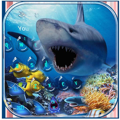 Crazy Shark Water Drop Theme