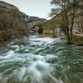 Voda by Marko Dragović - Landscapes Waterscapes ( krka, flow, river )