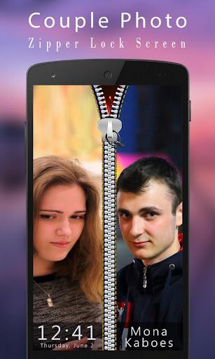 Couple Photo Zipper LockScreen