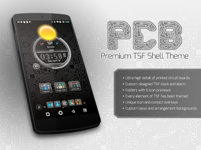 PCB Black ⁞ TSF Shell 3 Theme- screenshot thumbnail