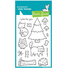 Lawn Fawn Clear Stamps 4X6  - Critters In The Forest
