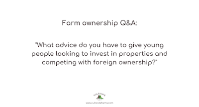 What advice do you have to give young people looking to invest in properties and competing with foreign ownership?
