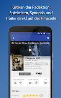 Screenshot of Filmstarts: Kino, Film, Serien