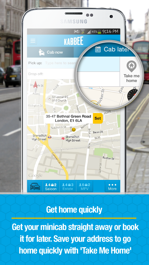 Kabbee - book London minicabs- screenshot