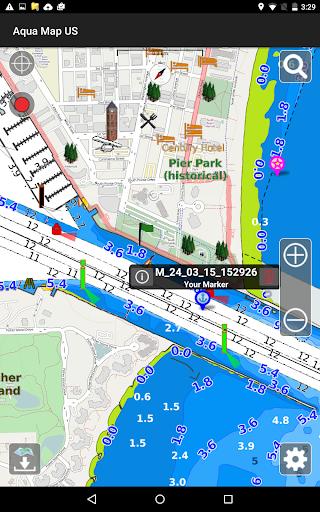 Aqua Map Usa Marine Gps For Android