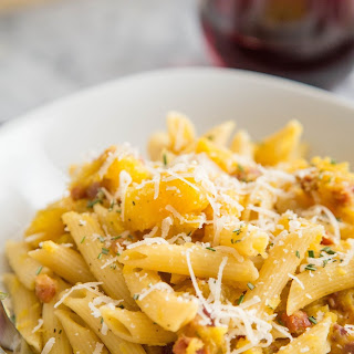 Penne with Acorn Squash and Pancetta
