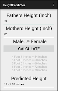 Medical Height Predictor screenshot 2