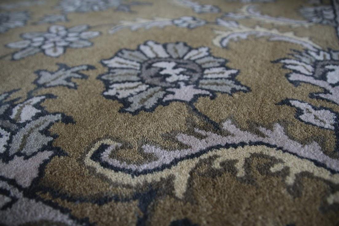 brązowy pastelowy dywan persian ziegler wełniany ręcznie tkany 155x245 tradycyjny kwiatowy