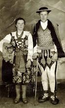 Photo: Sojka Aniela z żoną - lata 50-te.