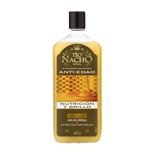 Tio Nacho Shampoo Capilar Antiedad Nutricion Brillo Jalea Real 415 ML