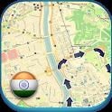 India Offline Map & Weather icon
