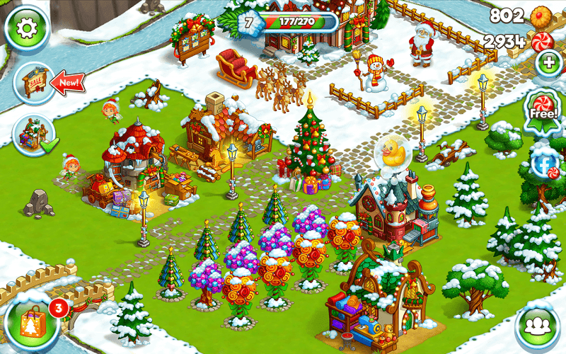 Farm Snow: Happy Christmas Story With Toys & Santa Screenshot 7