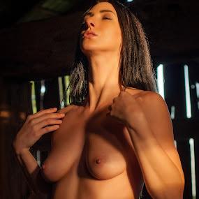 Hay Barn by James Baker - Nudes & Boudoir Artistic Nude ( farm, model, nude, barn, kallia, 825555, forest,  )