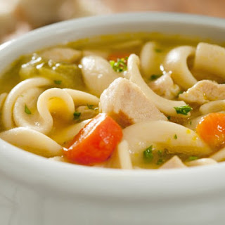 Homemade Slow Cooker Chicken Noodle Soup.
