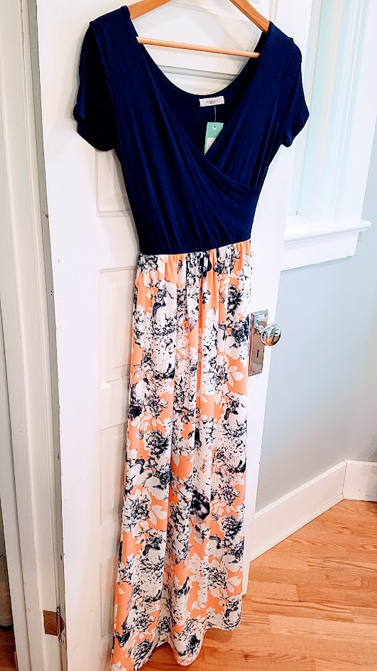 Stitch Fix box for February 2017, Gilli Ryland Maxi Dress