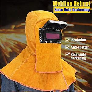 Masca de sudura pentru cap, material piele de vaca