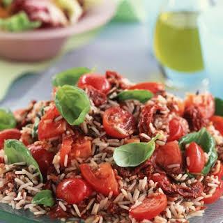 Tomato, Basil and Rice Salad.