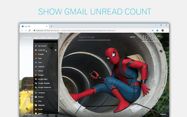 Spider Man Homecoming Custom New Tab