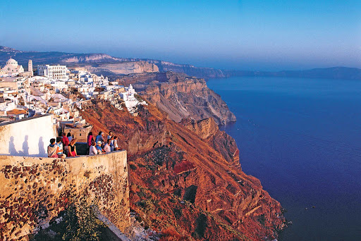 Santorini-cliffs.jpg - Santorini's cliffsides reveal the area's stunning volcanic past when you visit Greece's most popular island.