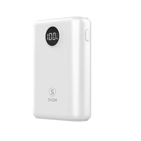 SiGN Mini Q.C Powerbank med Display 10.000mAh