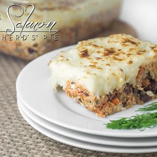 """Greek Salmon """"Shepherd's"""" Pie."""