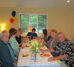 Photo: Peter, Mary, Nancy, Bob, Lisa, Jana, DJ, Dianne, and Michael at the table.