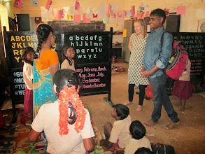 Photo: Sandeep and Nancy with Nirmala's class -- Allikuzhi.