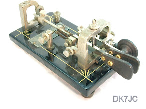 "Photo: Double Lever Key Nr.78721  Vibroplex  USA  1907-25  ""W""  #415"