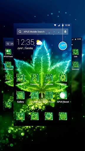 Shine Green Leaf Theme & HD wallpapers - screenshot