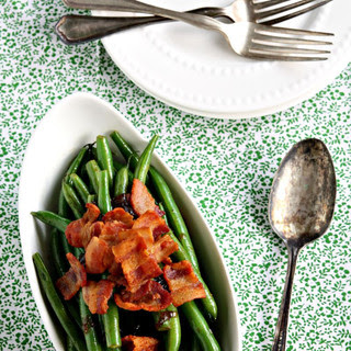 Sauteed Green Beans with Triple Ale Onion and Bacon.