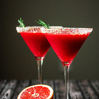 Raspberry Grapefruit & Rosemary Martini