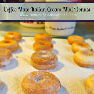 Coffee Mate Italian Cream Mini Donuts.
