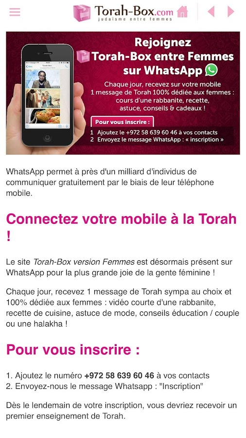 torah-box entre femmes - android apps on google play