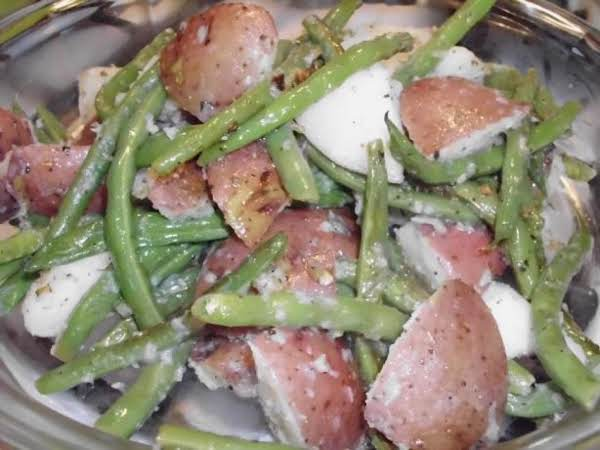 Sauteed Red Potatoes With Onion And Green Beans
