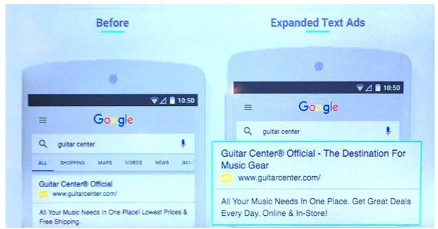 Mẫu thông điệp quảng cáo Google AdWords phiên bản mới CTR thấp