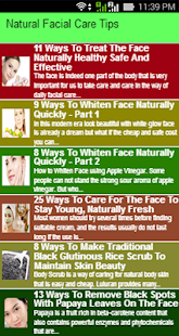 Natural Facial Care Tips - náhled