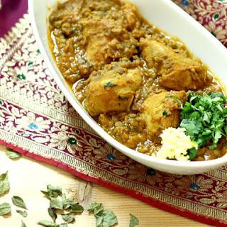 Chicken Dhansak -.