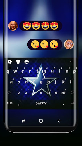 Cowboys Wallpaper Blue Silver Star Keyboard Theme for PC