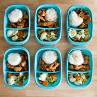 Meal Prep Lunches - Teriyaki Chicken.