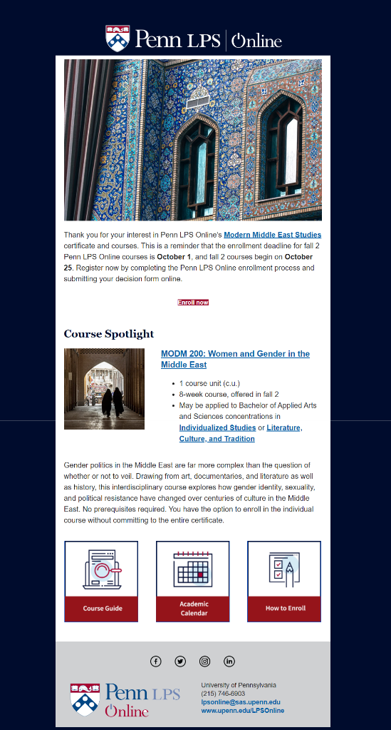 Penn LPS Online example